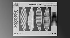 Minnow Mesh Airbrush Stencil Fishing Lure #3 -3 Inch - Mylar Reusable