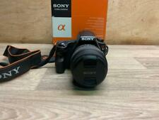 SONY ALPHA 37 16.1MP SLR DIGITAL CAMERA 18-55MM LENS WITH BOX CHARGER & SD CARD