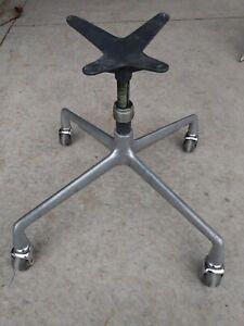 Vintage Herman Miller Eames Chair Swivel Short Stem Aluminum Adjustable Base