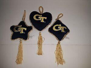 Georgia Tech Yellow Jackets 3 Piece Plush Pillow Ornament Set