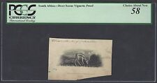 South Africa  - Deer Scene  Vignette Proof About Uncirculated