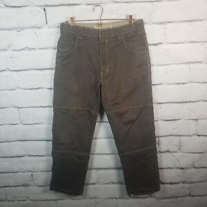 *Cabela's Casuals Mens Sz 34 Actual 34x28 Pants Straight Five Pocket Logo Brown