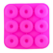 Silicone Donut Baking Pan Mold 9 Cavity Non-Stick For Microwave Freezer Oven P