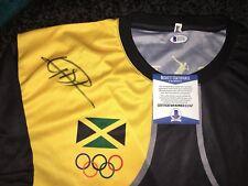 Usain Bolt Signed Rio Olympics Jersey Gold Medal 9x Gold 🇯🇲 Jamaica Beckett #7