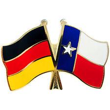 Freundschaftspin Deutschland - Texas Anstecker Anstecknadel Fahne Doppelpin