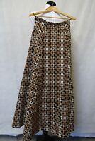 Women's Vintage Reseta Limited Brown Heavy Wool Tweed Skirt Size 4 CC9253