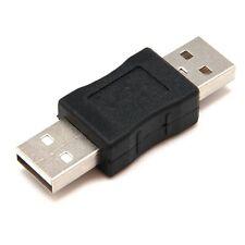 ADAPTADOR CONVERTIDOR USB 2.0 (M) A USB 2.0 (M) - NEGRO