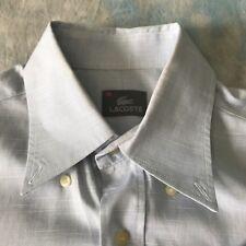 Lacoste Sz 15-35 Handsome Blue Striped Button Down Men's Dress Shirt