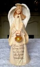 Enesco Foundation Angel Lighted Lantern (Thou Art My Lamp O Lord) NEW in Box