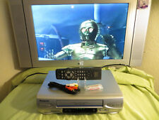 Panasonic PV-V4523S VCR Recorder VHS Player 4 Head with Remote Batts & Cables