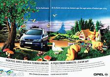 PUBLICITE ADVERTISING 096  1999  Opel  (2p)  Zafira TDI
