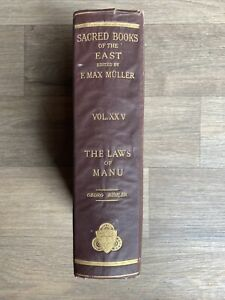 The Laws of Manu: The Sacred Books of the East (Volume 25). 1886.