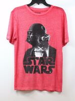 HYBRID Men's Star Wars Graphic Print Darth Vader Burnout T-shirt Red