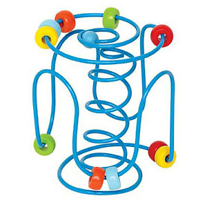 """Hape E1800 Bead Rollercoaster """" Spring A Ling """" Motor Skills Game Wooden New! #"""
