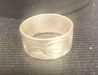 Northwest Coast First Nations native carving Art:Sterling Silver Ring Eagle sz10