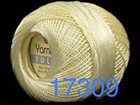 Variegated Blue White YarnArt Tulip #17332 Size 10 Microfiber Thread 50g 273y