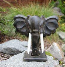 Elefantenkopf stehend Antiklook Holz Elefant Eyecatcher Afrikastyle Dekoration