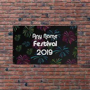 Personalised Fireworks Dance Festival Design 5x3ft Banner