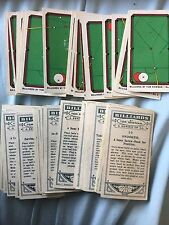 Billiards by Tom Newman Cigarette Cards (1928) Ogden's  Buy 2 Save - updated
