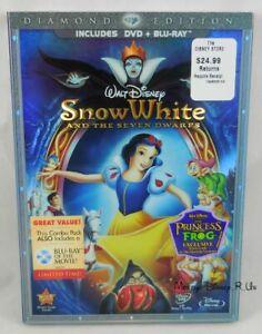 Disney Snow White & the 7 Dwarfs Diamond Edition Blu-Ray DVD Buena Vista Sealed