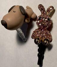 Smartphone Plug in Charm Rabbit Bunny & Dog 3.5 mm plug Cell Phone & Device