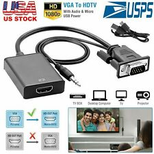 1080P Hd Vga To Hdmi Converter Adapter+3.5 Audio Jack for Hdtv Pc Monitor Laptop