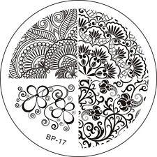 Stamping Schablone Stempel Blumen Blüten Ranken  BP-17