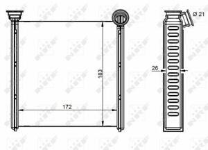 Heater Matrix 54342 NRF Exchanger Interior 5Q0819031 5Q0819031B Quality New