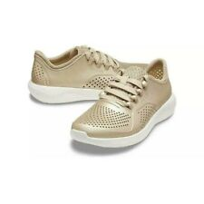 Crocs LiteRide Pacer Metallic Champagne Sneakers Shoes Womens Size 6