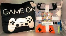Gamer Xbox Playstation Nintendo DS Snuggly Blanket And Squishy Pillow Set NEW