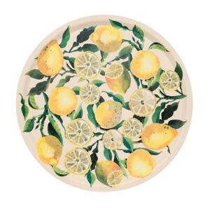 Emma Bridgewater Serving Tray Fruit Lemons 38cm Round Hand Made of Birch Wood