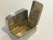 Antique 19th Century  Solid Silver Vinaigrette with Gilded Interior