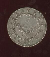 Napoléonide  5 pesetas 1809 siège de Barcelone