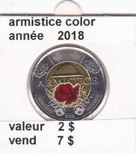C1 ) pieces de 2 dollar armistice color 2018