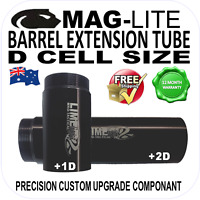 MAGLITE UPGRADE D CELL BARREL BODY EXTENSION TUBE +1D or +2D for FLASHLIGHT  AU