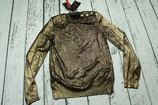Balmain x H&M Shimmery Gold Sweater Jumper Size US 4 / EUR 34 / XS / UK 8 ITALY