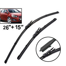 Front Windshield Wiper Blades Set For Chevrolet Aveo Sonic 2015 2016 2017 2018