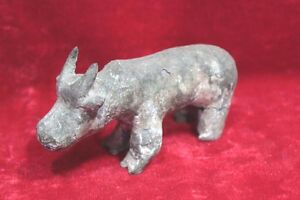 Stone Small Cow Statue Old Handcrafted Vintage Decor Figure Antique PX-11