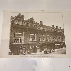1898 Building News The Parade Boscombe Hants Antique Architecture