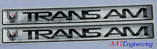 1982-1992 3rd Gen TRANS AM Door Handle 3D Inserts Decals With Graphic NEW