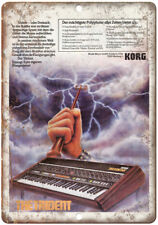 """KORG The Trident  Electronic Shynthesizer Vintage Ad 10"""" x 7"""" Metal Sign E25"""