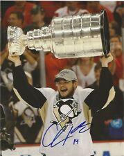 Pittsburgh Penguins Chris Kunitz Stanley Cup Autographed Signed 8x10 COA B