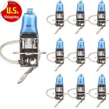 HS 10x H3 6000K Xenon Gas Halogen Headlight Bright White Light Bulbs 100W 12V