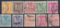 NZ25) New Zealand 1931-58 Arms range to 10/- + £1 with faults