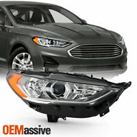 For 17-20 Ford Fusion Sedan w/o LED DRL Halogen Projector Headlight Passenger