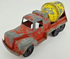 Vintage Tootsietoy Metal Cement Truck Mixer P-10290 Distressed