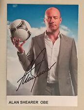 Alan Shearer ex attaccante dell'Inghilterra firma originale su carta con certificato di autenticità e abbinare ST