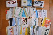R&L Postcard Job Lot Collection, Amateur Radio QSL Cards USA/Canada 1960s x 475