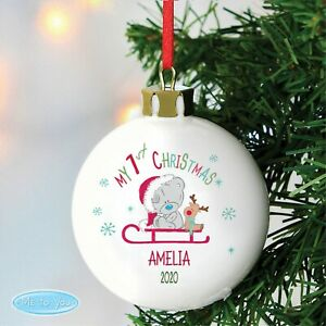 Luxury Personalised My 1st Christmas Bauble Tiny Tatty Teddy Bauble Xmas Baubles