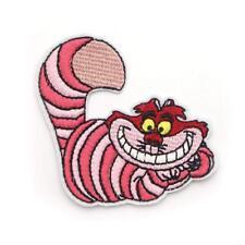 Pink Cat Alice in Wonderland Cloth Iron On Patches   Aufnäher